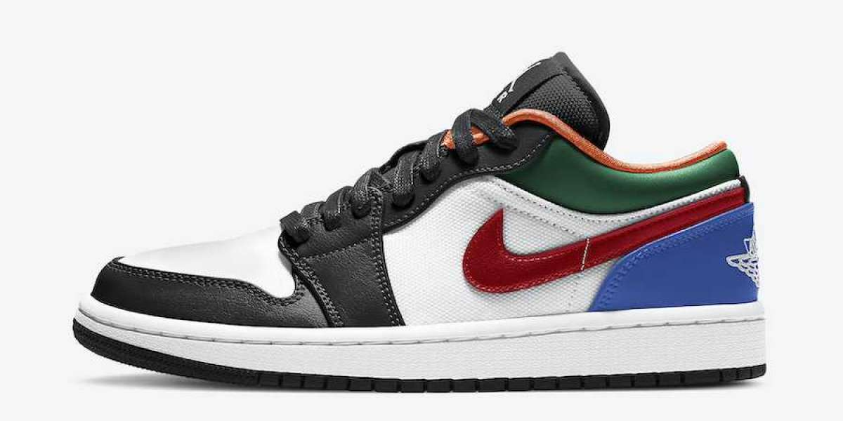 """CZ4776-101 Air Jordan 1 Low """"Multi-Color"""" Will Be Put On Sale Recently"""