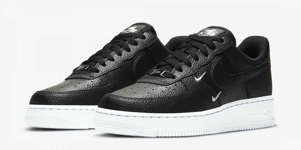 2020 Nike Air Force 1 Low Black White Metallic Silver Coming Soon