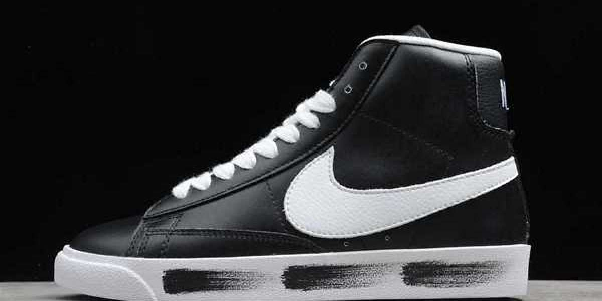 Nike Blazer Mid QS HH Black/White 2020 Newest CJ6101-900