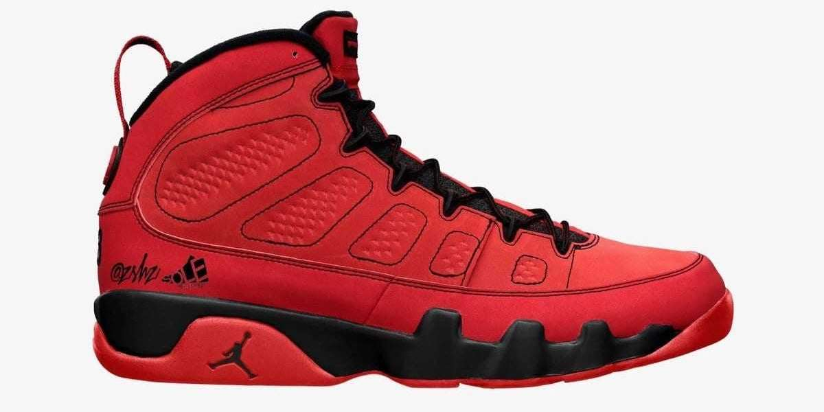 """2021 Latest Air Jordan 9 """"Chile Red"""" CT8019-600 Releasing During Fall"""
