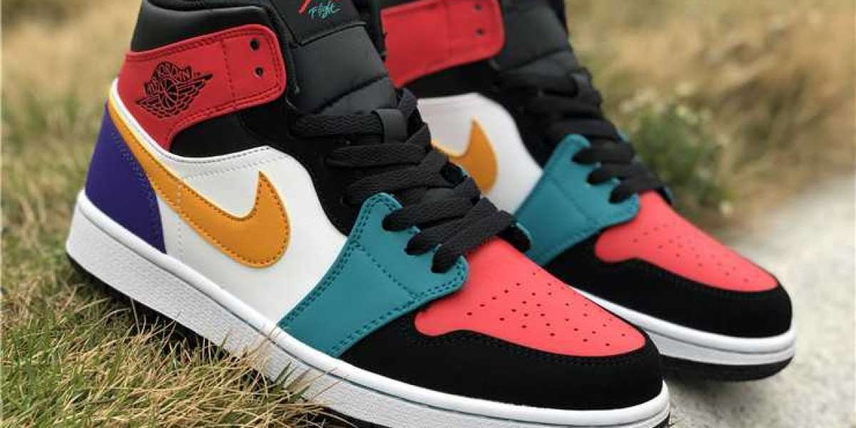 Discount Price Air Jordan 1 Mid Bred Multi-Color Shoes To Buy Jordansaleuk.com