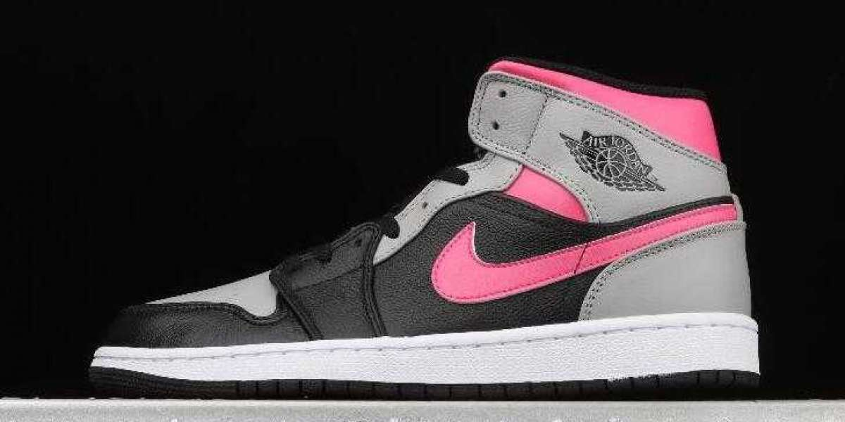 Cheap Sale Air Jordan 1 Mid Black Medium Grey Red White is Available Now