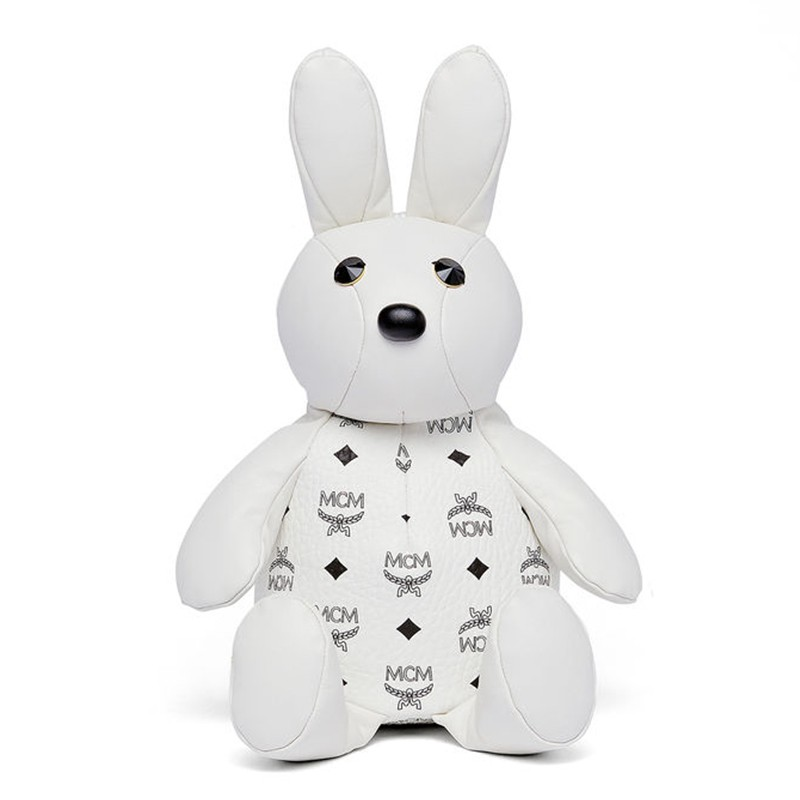 MCM Zoo Rabbit Doll Backpack In White
